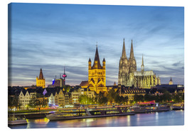 Canvas  Overlooking the historic center of Cologne