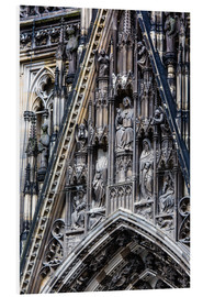 Foam board print  Facades detail at Cologne Cathedral