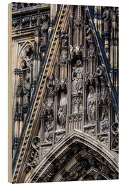Wood print  Facades detail at Cologne Cathedral
