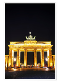 Premium poster Brandenburg gate (Brandenburger Tor) in Berlin