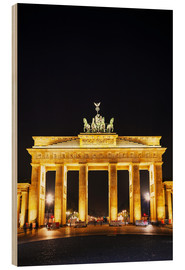 Wood print  Brandenburg gate (Brandenburger Tor) in Berlin