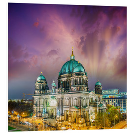 Foam board print  Berliner Dom - German Cathedral at sunset