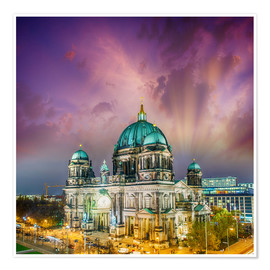 Premium poster  Berliner Dom - German Cathedral at sunset