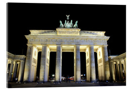 Acrylic glass  Brandenburg Gate in Berlin by night