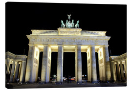 Canvas print  Brandenburg Gate in Berlin by night