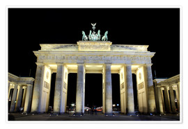 Brandenburg Gate in Berlin by night