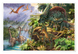 Poster  Dinosaur Valley - Steve Read