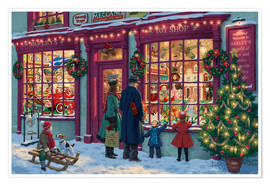 Poster  Toy Shop at Christmas - Steve Read