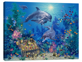 Canvas  Dolphin Family - Steve Read