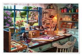 Premium poster  Grandmas Craft Shed - Steve Read