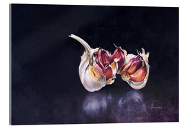 Acrylic glass  Garlic on black - John Francis