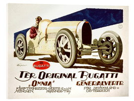 Acrylic print  The original Bugatti (German)