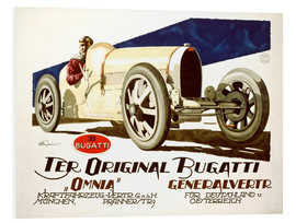 Foam board print  The original Bugatti