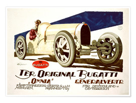 Premium poster  The original Bugatti