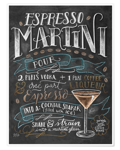 Poster Espresso Martini recipe
