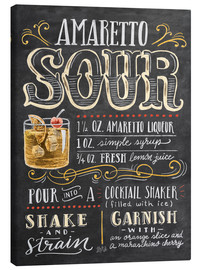 Canvas print  Amaretto Sour recipe - Lily & Val