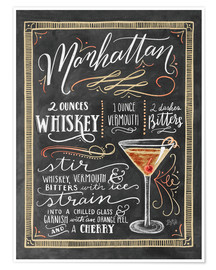 Poster  Manhattan recipe - Lily & Val