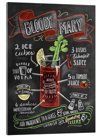Acrylic print  Bloody Mary recipe - Lily & Val