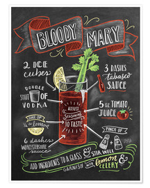 Premium poster Bloody Mary recipe