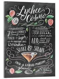 Acrylic glass  Lychee Cosmo recipe - Lily & Val