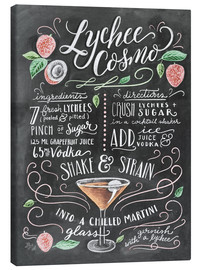Canvas print  Lychee Cosmo recipe - Lily & Val