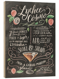 Wood  Lychee Cosmo recipe - Lily & Val