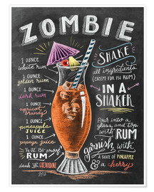 Poster  Zombie Cocktail recipe - Lily & Val
