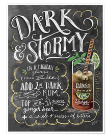 Poster  Dark & Stormy cocktail recipe - Lily & Val
