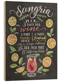 Wood print  Sangria recipe - Lily & Val