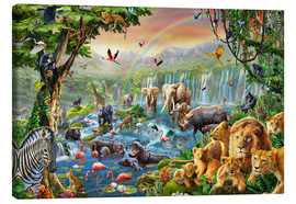 Canvas print  Jungle River - Adrian Chesterman