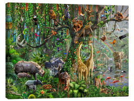 Canvas  JungleTree - Adrian Chesterman