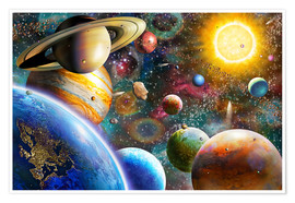 Premium poster  Planets in Space and Europe - Adrian Chesterman