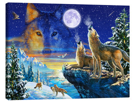 Canvas  Howling Wolves - Adrian Chesterman