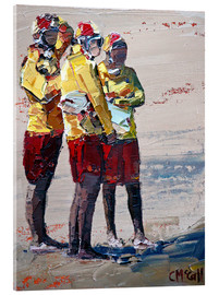 Acrylic print  Three lifeguards - Claire McCall