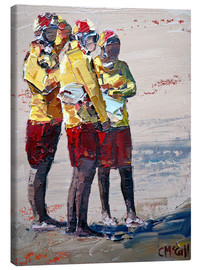 Canvas  Three lifeguards - Claire McCall