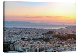 Canvas print  Sunset in Athens - George Pachantouris