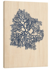 Wood print  Navy coral 3 - Patruschka