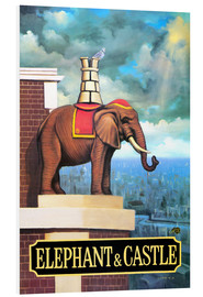 Foam board print  Elephant Castle - Peter Green's Pub Signs Collection