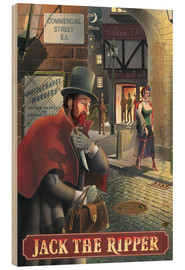 Wood print  Jack the Ripper - Peter Green's Pub Signs Collection