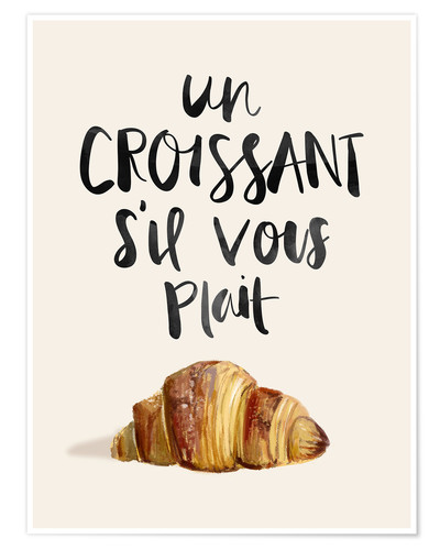 Premium poster Croissant (French)
