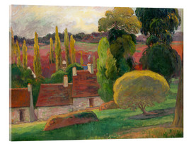 Acrylic glass  David mill in Pont Aven - Paul Gauguin