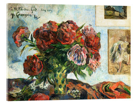 Acrylic glass  Peonies - Paul Gauguin