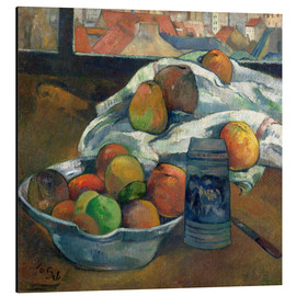 Paul Gauguin - bowl of fruit and tankard before a window
