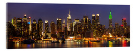Acrylic glass  Illuminated New York skyline at night