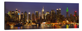 Aluminium print  Illuminated night skyline, New York