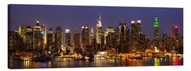 Canvas print  Illuminated night skyline, New York