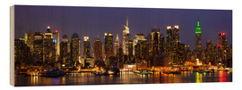 Wood  Illuminated night skyline, New York