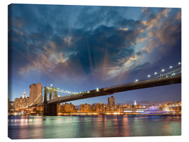 Canvas print  Brooklyn Bridge in stunning colors
