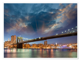 Premium poster Brooklyn Bridge in stunning colors