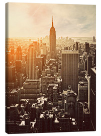 Canvas print  Sunset in Manhattan, New York